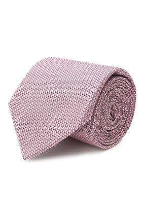 Мужской шелковый галстук BOSS розового цвета, арт. 50455533 | Фото 1