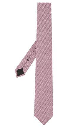 Мужской шелковый галстук BOSS розового цвета, арт. 50455533 | Фото 2