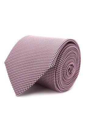 Мужской шелковый галстук BOSS розового цвета, арт. 50455334 | Фото 1