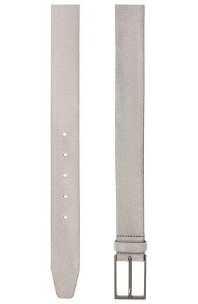 Мужской замшевый ремень  BOSS светло-серого цвета, арт. 50375225 | Фото 2