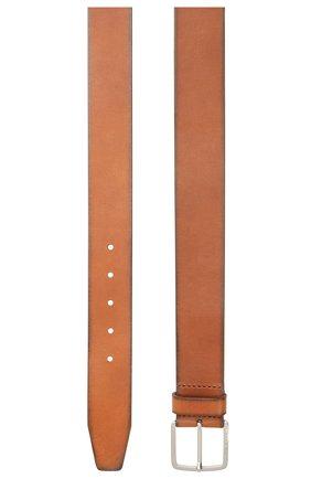 Мужской кожаный ремень BOSS коричневого цвета, арт. 50424683 | Фото 2
