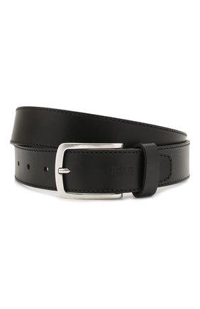 Мужской кожаный ремень BOSS черного цвета, арт. 50455951 | Фото 1