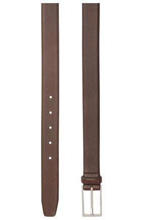 Мужской кожаный ремень BOSS коричневого цвета, арт. 50435216 | Фото 2