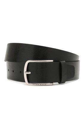 Мужской кожаный ремень BOSS черного цвета, арт. 50455245 | Фото 1
