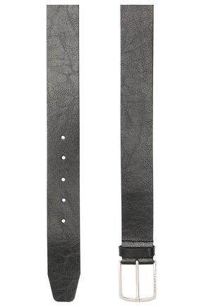 Мужской кожаный ремень BOSS черного цвета, арт. 50455245 | Фото 2