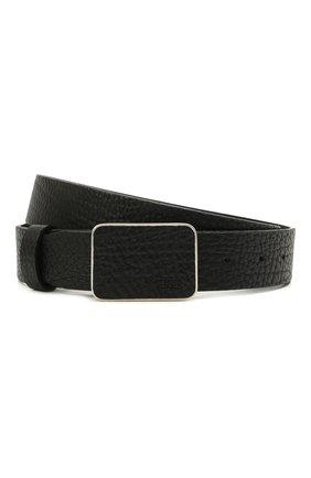 Мужской кожаный ремень BOSS черного цвета, арт. 50455782 | Фото 1