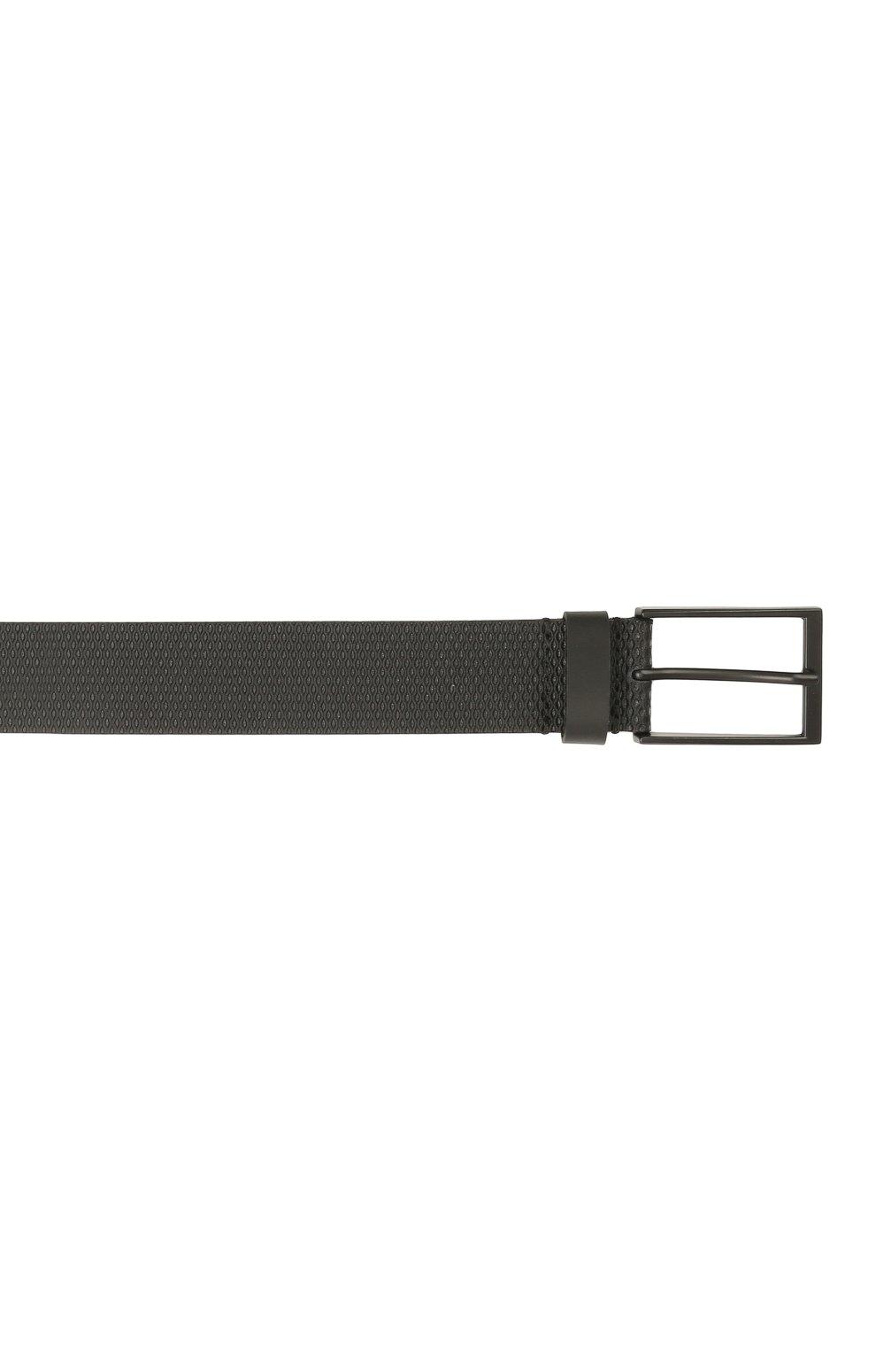 Мужской кожаный ремень BOSS черного цвета, арт. 50455235 | Фото 3