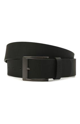 Мужской кожаный ремень BOSS черного цвета, арт. 50455250 | Фото 1