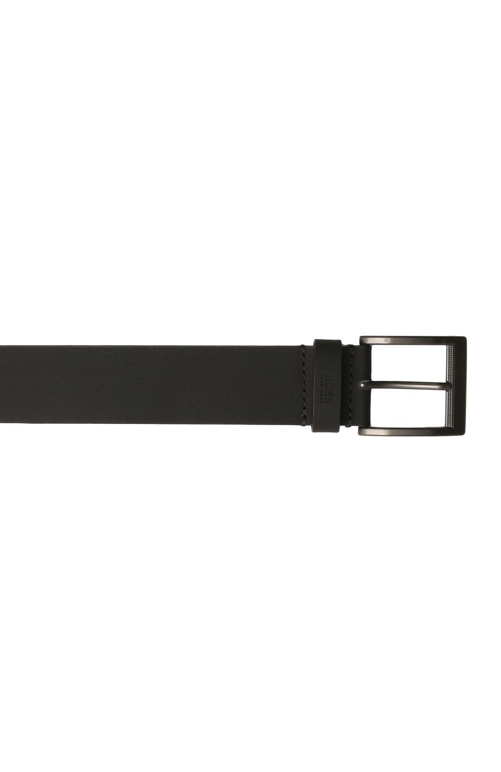 Мужской кожаный ремень BOSS черного цвета, арт. 50455250 | Фото 3