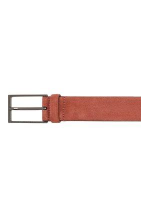 Мужской замшевый ремень  BOSS коричневого цвета, арт. 50375225 | Фото 3
