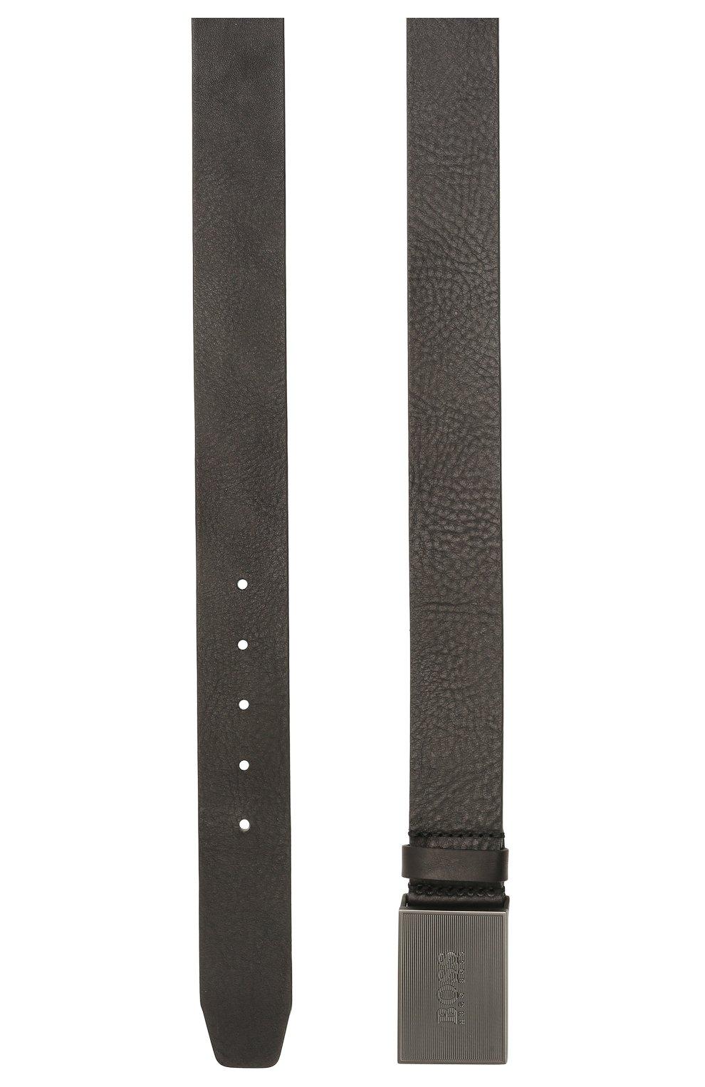 Мужской кожаный ремень BOSS черного цвета, арт. 50455366 | Фото 2