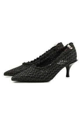 Женские комбинированные туфли PREMIATA черного цвета, арт. M6074/CANASTA   Фото 1