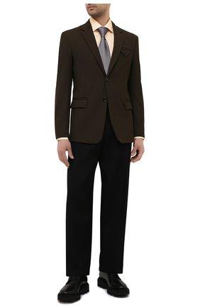 Мужская хлопковая сорочка ETON желтого цвета, арт. 1000 01767 | Фото 2 (Рубашки М: Regular Fit; Манжеты: На пуговицах; Стили: Классический; Рукава: Длинные; Воротник: Акула; Материал внешний: Хлопок; Случай: Формальный; Принт: Однотонные; Длина (для топов): Стандартные)