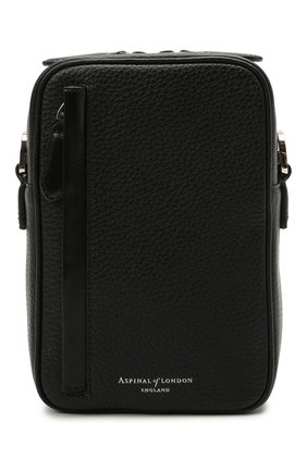 Мужская кожаная сумка ASPINAL OF LONDON черного цвета, арт. 011-2414_14110000 | Фото 1
