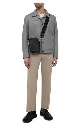 Мужская кожаная сумка ASPINAL OF LONDON черного цвета, арт. 011-2414_14110000 | Фото 2