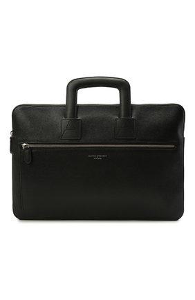 Мужская кожаная сумка для ноутбука ASPINAL OF LONDON черного цвета, арт. 011-1289_14210000 | Фото 1