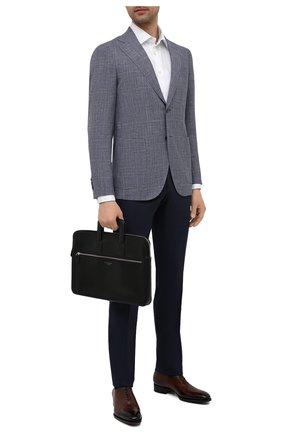Мужская кожаная сумка для ноутбука ASPINAL OF LONDON черного цвета, арт. 011-1289_14210000 | Фото 2