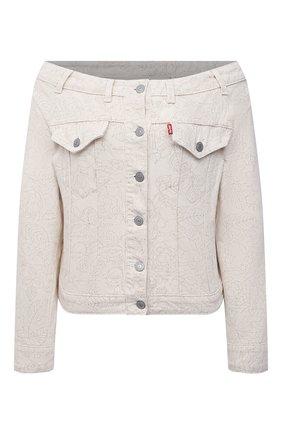 Женская джинсовая куртка ganni x levi's GANNI бежевого цвета, арт. F6094 | Фото 1