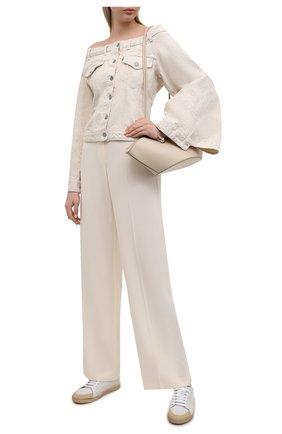 Женская джинсовая куртка ganni x levi's GANNI бежевого цвета, арт. F6094 | Фото 2