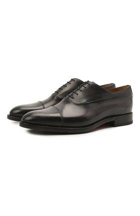 Мужские кожаные оксфорды BERLUTI черного цвета, арт. S5501-001 | Фото 1