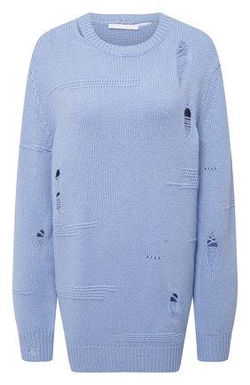 Женский свитер из шерсти и кашемира HELMUT LANG голубого цвета, арт. L01HW709 | Фото 1