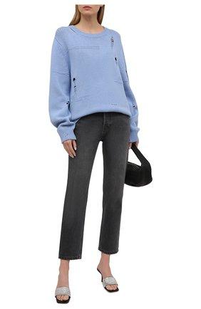 Женский свитер из шерсти и кашемира HELMUT LANG голубого цвета, арт. L01HW709 | Фото 2