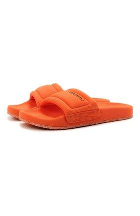 Мужские текстильные шлепанцы HERON PRESTON оранжевого цвета, арт. HMIC002S21FAB0012200   Фото 1
