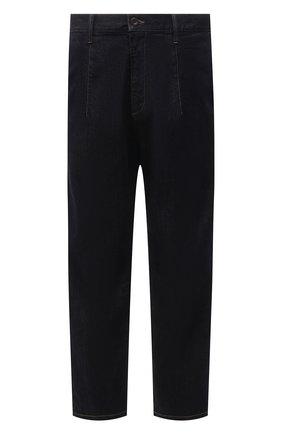 Мужские джинсы GIORGIO ARMANI синего цвета, арт. 3KSP61/SD0TZ | Фото 1 (Материал внешний: Хлопок, Деним; Кросс-КТ: Деним; Стили: Кэжуэл; Длина (брюки, джинсы): Стандартные; Силуэт М (брюки): Широкие)