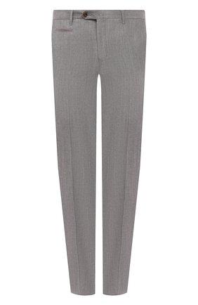 Мужские брюки из шерсти и льна CORNELIANI серого цвета, арт. 875B05-1114165/02   Фото 1