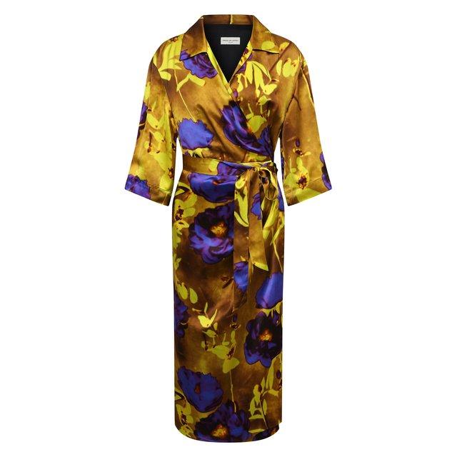 Платье из вискозы и шелка Dries Van Noten