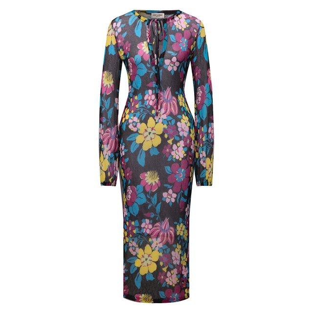 Платье из вискозы Saint Laurent