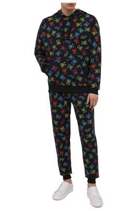 Мужской хлопковое худи MOSCHINO разноцветного цвета, арт. A1709/8109 | Фото 2