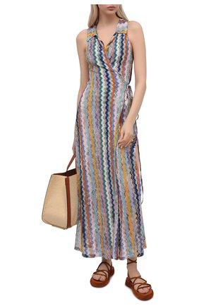 Женское платье из вискозы MISSONI разноцветного цвета, арт. MMQ00219/BR00E8 | Фото 2