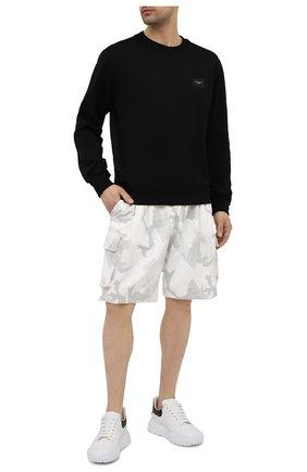 Мужские хлопковые шорты DOLCE & GABBANA белого цвета, арт. GYSJAZ/G7YEB | Фото 2