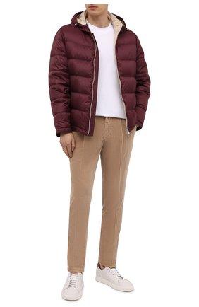 Мужские хлопковые брюки BRUNELLO CUCINELLI бежевого цвета, арт. M280DE1740 | Фото 2