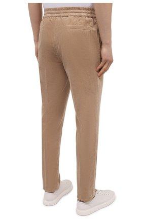 Мужские хлопковые брюки BRUNELLO CUCINELLI бежевого цвета, арт. M280DE1740 | Фото 4