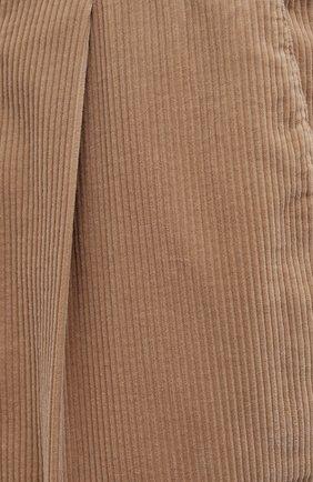 Мужские хлопковые брюки BRUNELLO CUCINELLI бежевого цвета, арт. M280DE1740 | Фото 5