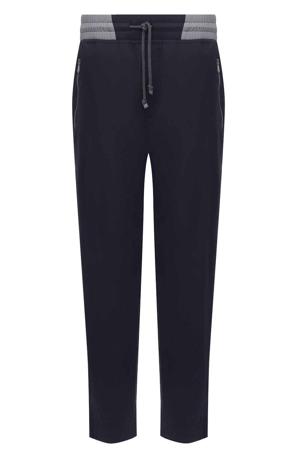 Мужские брюки BRUNELLO CUCINELLI темно-синего цвета, арт. MM45A7322G   Фото 1
