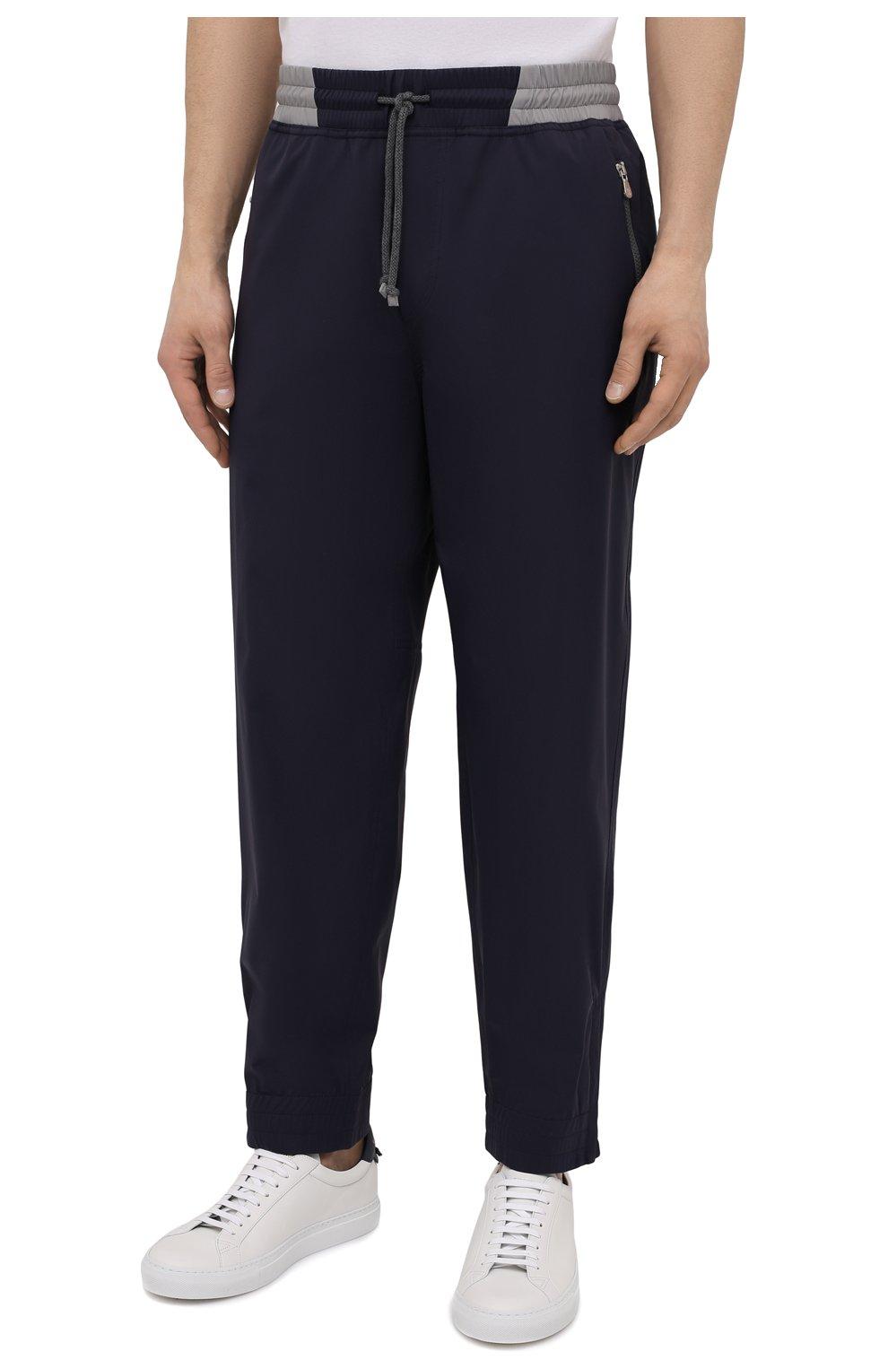 Мужские брюки BRUNELLO CUCINELLI темно-синего цвета, арт. MM45A7322G   Фото 3