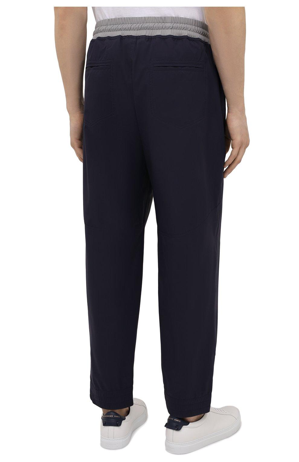 Мужские брюки BRUNELLO CUCINELLI темно-синего цвета, арт. MM45A7322G   Фото 4