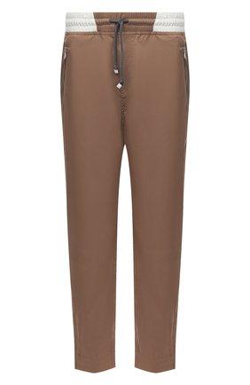 Мужские брюки BRUNELLO CUCINELLI коричневого цвета, арт. MM45A7322G | Фото 1