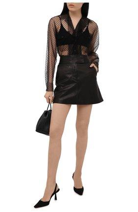 Женская кожаная юбка KHAITE черного цвета, арт. 4044730/GIULIA | Фото 2