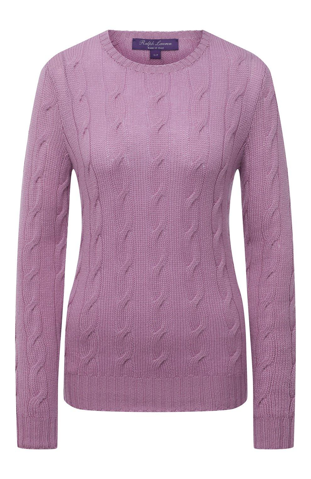 Женский кашемировый пуловер RALPH LAUREN светло-розового цвета, арт. 290615209 | Фото 1