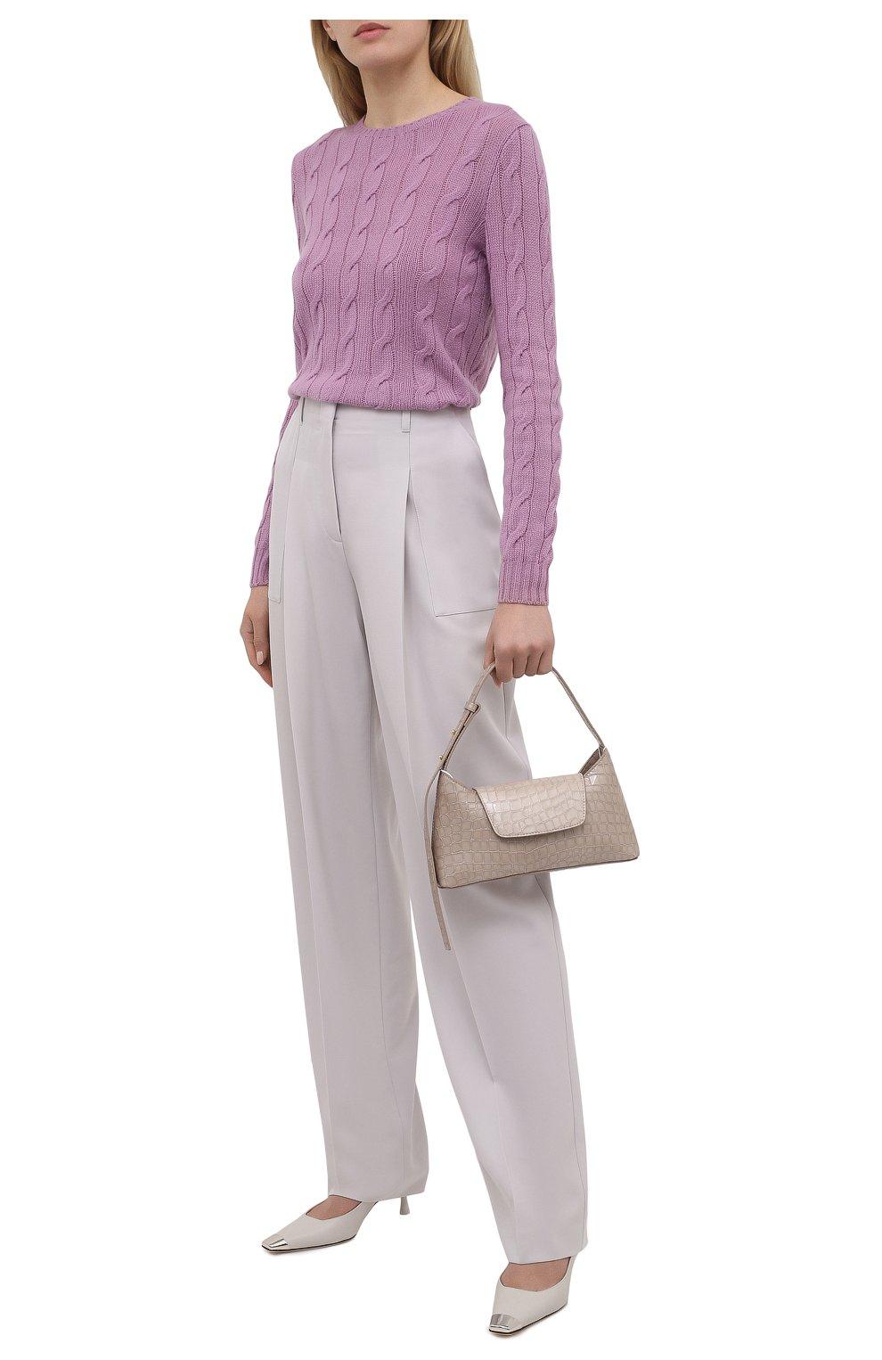 Женский кашемировый пуловер RALPH LAUREN светло-розового цвета, арт. 290615209 | Фото 2