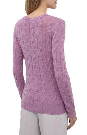 Женский кашемировый пуловер RALPH LAUREN светло-розового цвета, арт. 290615209 | Фото 4