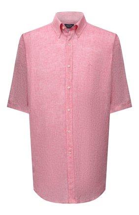 Мужская льняная рубашка PAUL&SHARK розового цвета, арт. 21413109/F7E | Фото 1