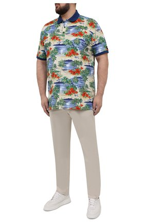 Мужское хлопковое поло PAUL&SHARK разноцветного цвета, арт. 21411292/C00/3XL-6XL   Фото 2