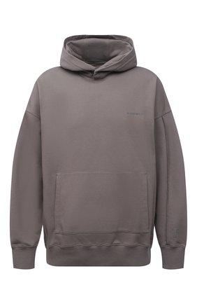 Мужской хлопковое худи A-COLD-WALL* серого цвета, арт. ACWMW030 | Фото 1