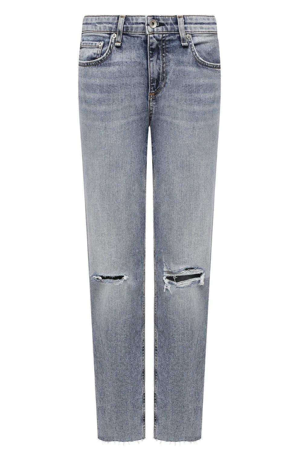 Женские джинсы RAG&BONE голубого цвета, арт. WDD21S2643K1SH | Фото 1