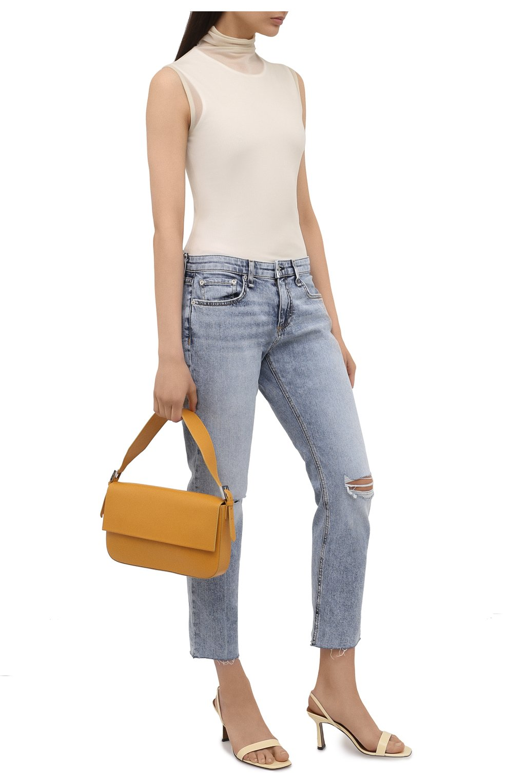 Женские джинсы RAG&BONE голубого цвета, арт. WDD21S2643K1SH | Фото 2